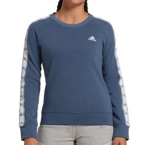 adidas Tiro Tape Crewneck Sweatshirt Blue | Small